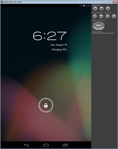 Intel Atom (x86) Androidエミュレータ