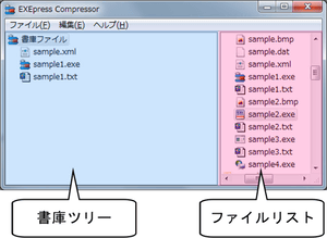 EXEpress Compressorメインウィンドウ